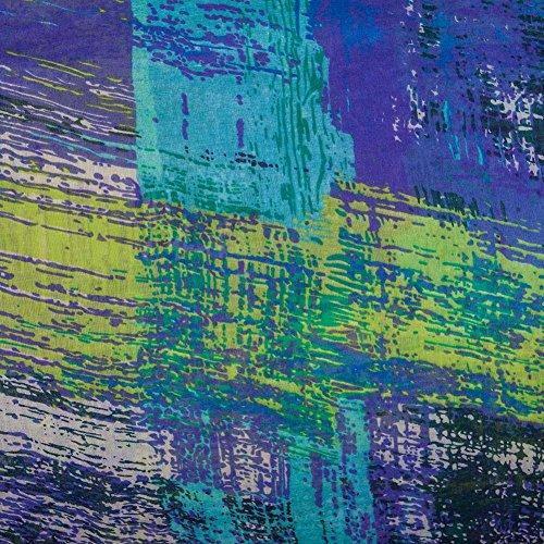 MissShorthair Women's Light Weight Colorful Painting Plaid Tartan Infinity Scarf (Atlantis)