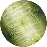 Safavieh Soho Collection SOH712G Handmade Green and Multi Wool Round Area Rug, 6 feet in Diameter (6' Diameter)