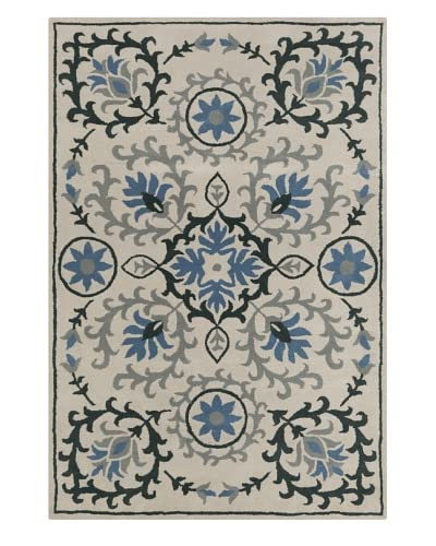 Filament Sloan Hand-Tufted Rug, Blue/Green, 5′ x 7′ 6″