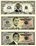 Barack Obama 44th President Triple Collectors Bill Collector Set 1-One Million Dollar Bill, 1-2008 FEDERAL OBAMA NOTE Bill & 1-2009 FEDERAL INAUGURAL NOTE 2009 Dollar Bill