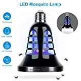 Bug Zapper Light Bulb - 2 In 1 Mosquito Killer Lamp & LED Lights - Trap and Kill Insect Fly Pest Gnat Moths - Chemical and Toxic Free, Cover 200 Sq. Ft - Indoor Porch Backyard Patio[2018 Upgraded] (Color: E26, Tamaño: E26)