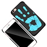 KOSBON Thermal Sensor Phone Case Heat Induction Color Changing Holster Ultra-thin Hard PC Anti-scratch Cover Protective Shell for for IPhone (Black to Blue, For iPhone 7 4.7