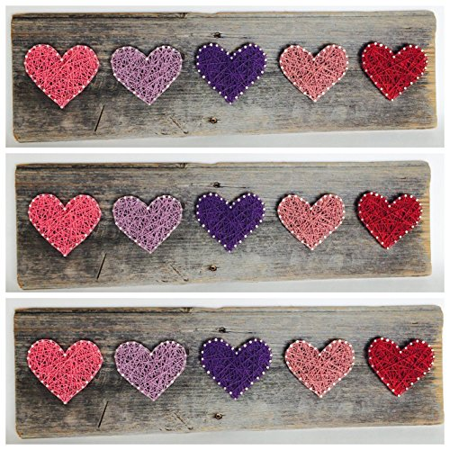 Rustic string art Primrose Hearts - A unique gift for Baby girls, Weddings, Anniversaries, Birthdays, Valentine's Day, Christmas,House Warming and nurseries..
