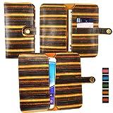 Emartbuy® Braun Vintage Stripes PU Leder Mappen Kasten
