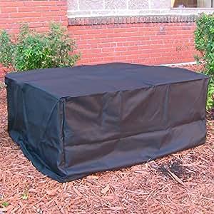 Sunnydaze heavy duty square black fire pit for Amazon prime fire pit