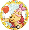 Anagram International Pooh and Piglet Celebrate Foil Balloon, Multicolor