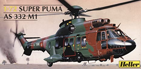 Heller - 80367 - Construction Et Maquettes - Super Puma As 332 M1 - Echelle 1/72ème