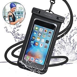 強化版 防水ケース スマホ用 【IPX8認定 指紋認証対応】 スマホ 防水携帯ケース タッチ可能