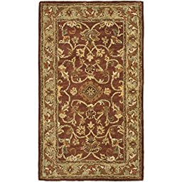 Safavieh Golden Jaipur Collection GJ250E Handmade Rust and Green Wool Area Rug, 3 feet by 5 feet (3\' x 5\')