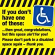 Disabled Parking Bay (Why have you stolen my space - FLYERS) x 100 - Leave on cars that take up disabled bays with no blue badge!