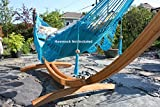 Bamboo Arc Hammock Stand for All Hammocks - 14.5 Foot Heavy Duty Wooden Stand by Hammock Universe - Strong, Solid, Eco-Friendly Multi-Ply Bamboo Wood Frame with 500lbs Capacity & Quick Assembly