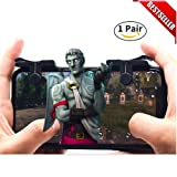 Alpha Pro Gaming Mobile Game Controller for IPhone and Android L1R1 Triggers for PUBG/Fortnite, Mobile Gaming Accessories, IOS Controller for PUBG, mobile game controller bluetooth ios