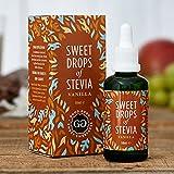Good Good Stevia Tropfen (50ml) - 11 Aromen Auswahl! Zuckerfrei und natürlich! Das Wundermittel für Diabetiker! Für Ihren Kaffee oder Tee am Morgen, den Smoothie oder das Frühstück! Backen war nie gesünder! (Vanille)