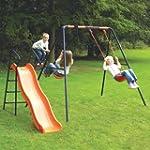 Childrens Garden Swing With Slide Hea...