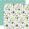 Echo Park Bundle of Joy 2 Baby Boy Alphabet Baby Scrapbook Paper