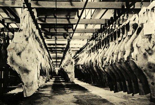 1940 Print Ansel Adams Safeway Stores Meat Beef Plant Los Angeles Food Grocery - Original Halftone Print