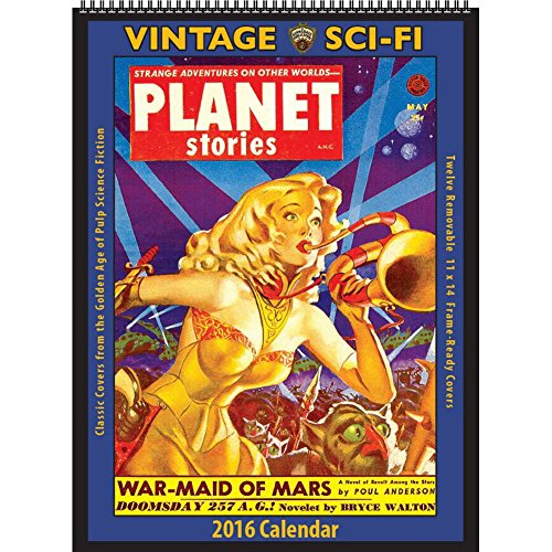 Vintage Sci-Fi Poster Calendar by Asgard Press (Vintage Scifi Calendar compare prices)