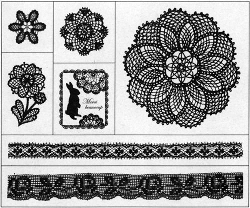 beautiful stamp set mandala flowers & rabbit