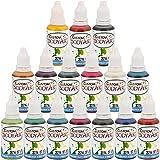 Custom Body Art Brand Set of 16 Colors 1-oz Bottles of Water Base Face-Body ...