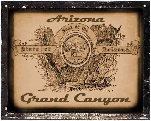 Grand Canyon Sign / Retro Vintage Antique Style Wall Decor Art 346