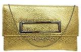 Di Classe's Womens Clutch (Gold)
