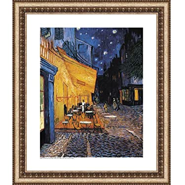Easy Apply Post-Impressionist Painting Art Wall Sticker - Cafe Terrace at Night / Cafe Terrace on the Place du Forum, Arles, at Night by Vincent Van Gogh