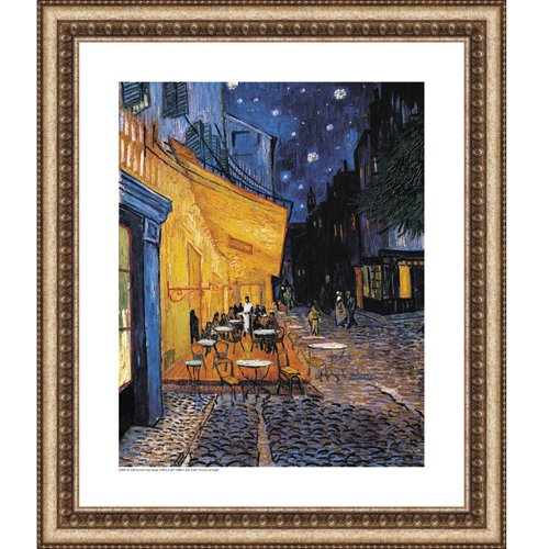 Easy Apply Wall Sticker Painting -Cafe Terrace at Night, Vincent Van Gogh