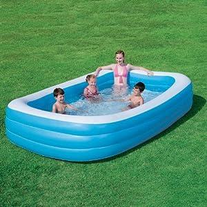 Bestway piscina gonfiabile rettangolare vico grande - Gonfiabili piscina amazon ...