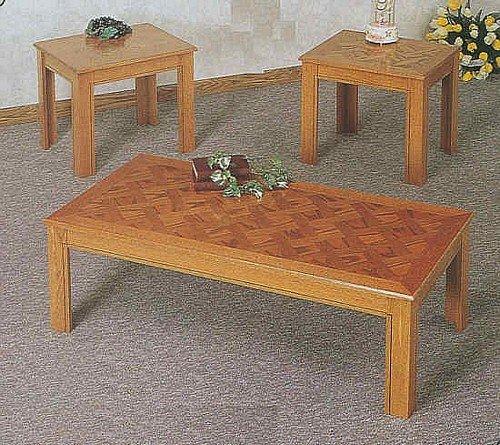 Buy Low Price 3 Pc Pack Oak Finish Parquet Wood Finish