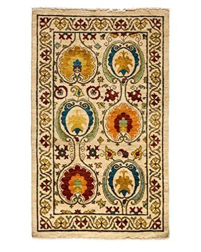 Darya Rugs Suzani Hand-Made Rug, Ivory, 5' 4 x 3' 3
