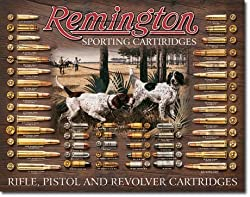 Remington Bullet Board Tin Sign 12.5&quot; X 16&quot;