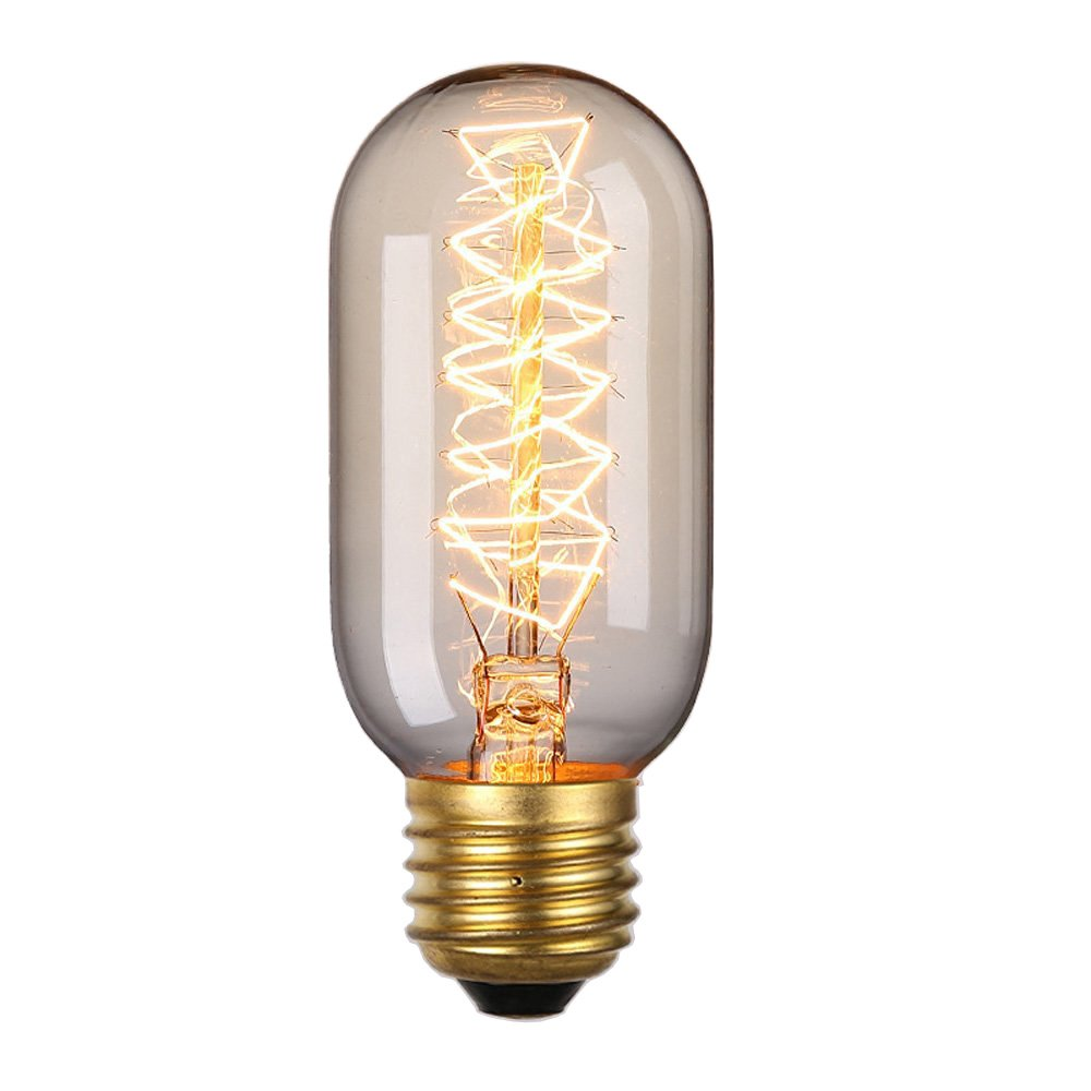 Rolay 25 Watt Clear Glass Edison Style Square Spiral Filament Repoduction Incandescent Light Bulb, 1 Pack 0