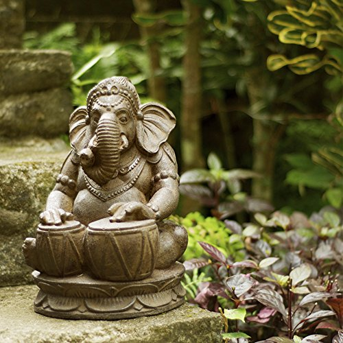 Outdoor Ganesh Statue Playing Drums