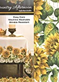 Sunflowers Country Afternoon Fabric Tablecloth ~ 60in. X 104in.