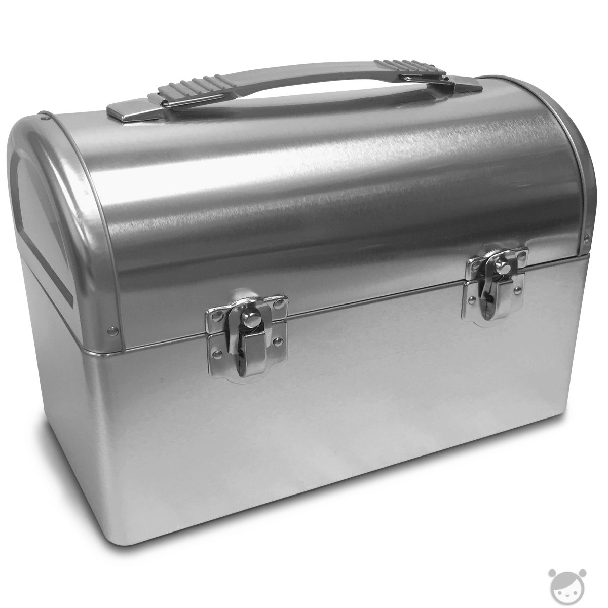 Plain Metal Dome Lunch Box - Silver 0