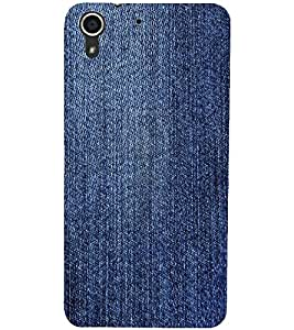 PrintDhaba Denim D-2429 Back Case Cover for HTC DESIRE 728 (Multi-Coloured)