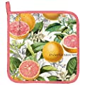 Michel Design Works Pink Grapefruit Cotton Potholder, Multicolor