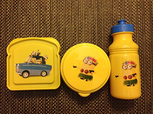 Despicable Me Minions BPA Free Sandwich Container, Snack Container and Pull-top Bottle