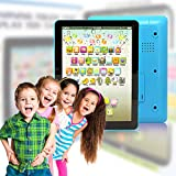 Wireless Pro® Children's Multimedia Learning Toy Tablet Styled Device with Music Sounds Numbers Letters Words and Phrases 6 Play Modes and 49 Push Buttons Perfect for Babies and Toddlers (Blue)