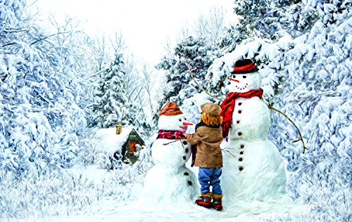 Visiting the Snow Family 550 Piece Jigsaw Puzzle by SunsOut Inc.