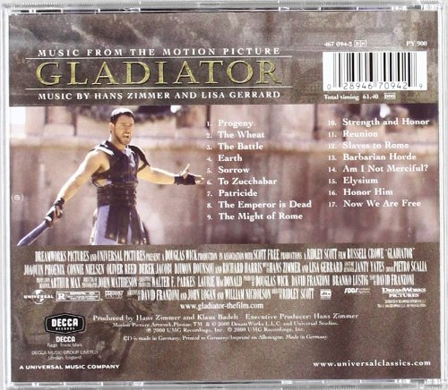 gladiator music from the motion picture pop panorama