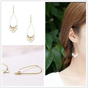 BENECREAT 30 PCS 18K Gold Plated Teardrop Shaped Beading Hoop Earrings for DIY Jewelry Making Findings (Color: Teardrop Beading Hoops, Tamaño: Teardrop Shape Beading Hoops)
