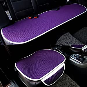 car interior accessories chair pad mat car seat cover universal full set purple. Black Bedroom Furniture Sets. Home Design Ideas