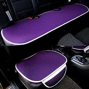 Car Interior Accessories Chair Pad Mat Car Seat Cover Universal Full Set Purple