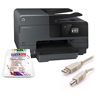 HP officeJet pro 8610 jet d'encre multifonction a7F64A câble uSB 1,8 m 20 feuilles oFFICE-partner papier photo 10 x 15 cm 200 g/m ² blanc brillant