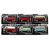 Volkswagen Set of 6 1:72 Models CAR CARARAMA 711ND-021B Samba Bus T1 Pickup