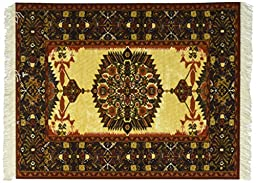 Lextra Ivory-Gold Feraghan MouseRug, 10.25 x 7.125 Inches, Rust, Gold and Brown, One (CGF-1)