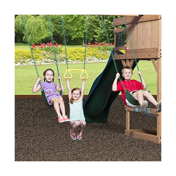 Backyard Discovery Oceanview All Cedar Wood Playset Swing Set Epic