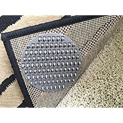 Non-Slip Rug Pads For RUG-ON-CARPET ANTI-SLIP. DESIGNED FOR MEDIUM PILE CARPET. 4 Pack. Intended To Limit SMALL Rugs/Exercise Mats/Door Mats From Moving On MEDIUM PILE CARPET. BRAND NEW DESIGN!
