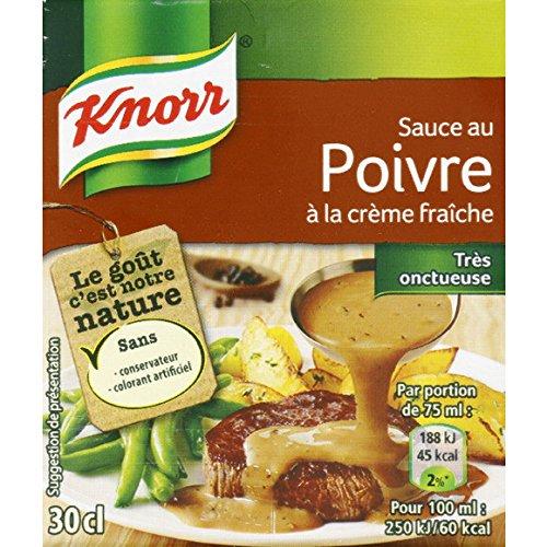 Knorr - Sauce au poivre à la crème fraîche - La brique de 30cl - (pour la quantité plus que 1 nous vous remboursons le port supplémentaire)